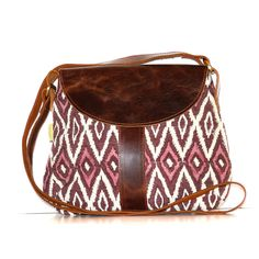 Leather Satchel - Fig Ikat - Joyn India has some gorgeous items in their fall collection.