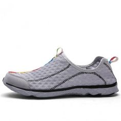 Gray Mesh Water Shoes For Men