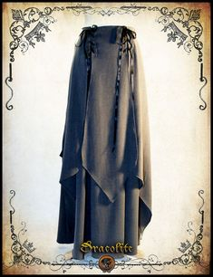 Elven Skirt Medieval clothing - Steampunk skirt for LARP, victorian costume and cosplay Steampunk Skirt, Steampunk Costume, Medieval Dress, Medieval Clothing, Conquest Of Mythodea, Larp, Victorian Costume, Fashion Dresses, 70s Fashion