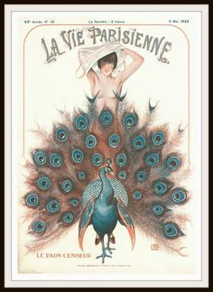 "Beautiful art print  Vintage French Magazine Paris Image ""La Vie Parisienne""  Wall Decor UnframedPrint is Unframed 8.5 x 11""  Ready for framing . Professionally"