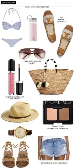 Warm Weather Essentials for any beach getaway!