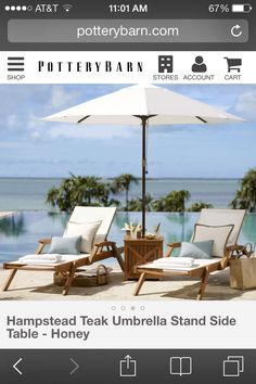 Pool furniture umbrella/table