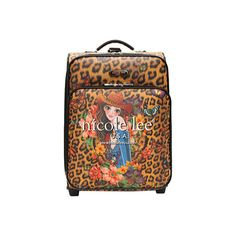 "Nicole Lee Print 21"" Expandable Rolling Carry-On - Sandra Camel ($104) ❤ liked on Polyvore featuring bags, luggage and none"