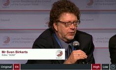 Panel discussion: Sven Birkerts, Editor, AGNI