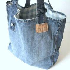 Resultado de imagem para shopping bags from old jeans