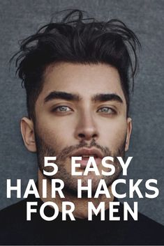 5 EASY Hair Hacks Every Guy Should Try - - Hair 'hacks' are tricks that can be used to get your hair to be healthy, smooth and manageable. Here are some hair hacks to get the perfect hair. My Hairstyle, Easy Hairstyles, Beard And Hairstyles, Mens Hairstyles Round Face, Toddler Hairstyles, Cool Hairstyles For Men, Latest Hairstyles, Guys Grooming, Hair And Beard Styles