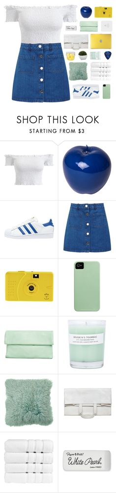 """「65.」"" by moonbeam-s ❤ liked on Polyvore featuring Bitossi, adidas Originals, Miss Selfridge, A.P.C., Maison Margiela, Christy, Paper Mate and Crate and Barrel"