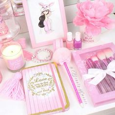It's always a PINK DAY!!! The Fabulous @beautyamorie has her vanity filled with Glam Goodies!!! Including the Glam Brush Set & Sprinkle my Love Sweet Sayings Candle!!! XO  http://ift.tt/1EiXRGu  #slmissglambeauty by slmissglam