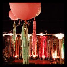 Balloons on the wedding dancefloor