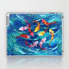 koi fish rainbow abstract paintings Laptop & iPad Skin @pointsalestore #society6 #laptop #skin #case  #Fish #Koi #Dragon #Water #Sea #River #Exotic #Animal #Oil #Watercolor #Pattern #PopArt #Vintage #Shark #Aquarium #Ornament #Decoration #Ornamental #Dorry #Nemo #Finding #Beautiful #Tropic #Whale #Dory #Beauty #Rainbow #FullColor #Colorful #Acrylic #Blue #Teal #Japanese #Japan #Tattoo #Yakuza