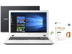 """Notebook Acer Aspire E5 Intel Core i5 6ª Geração - 8GB 1TB LED 15,6"""" + Office 365 Personal com as melhores condições você encontra no Magazine Jc79. Confira!"""