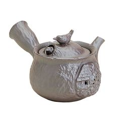 Banko-yaki Pottery : BIRDS - Japanese Pottery Kyusu Tea Pot 220cc
