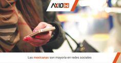 Las mexicanas son mayoría en redes sociales