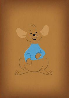"Winnie the Pooh Decal ""Roo"" Nursery Decor Printable by TheRetroInc Winnie The Pooh Nursery, Winne The Pooh, Winnie The Pooh Friends, Disney Winnie The Pooh, Disney Fan Art, Disney Love, Disney Magic, Disney Stuff, Eeyore"
