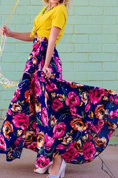 Kylie Floral Wrap Maxi Skirt