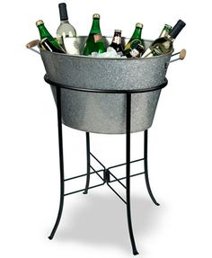 Artland Oasis Galvanized Tin Party Tub with Stand | macys.com