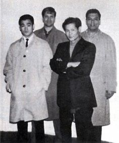 Bruce, Ed Parker, James Lee and Great Grand Master Ralph Castro. Shaolin Kenpo