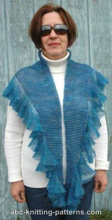 ABC modèles de tricot - Blue Dreams Petit Ruffle Châle