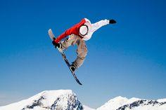 Frontside grab in Avoriaz, France  #snowboarding