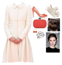 """""""Her Royal Highness The Grand Duchess Antoine of Lorraine, Princess of Lamballe, Princess of Suffolk attends the christening of her -"""" by fashion-royalty ❤ liked on Polyvore featuring L.K.Bennett and Bottega Veneta"""