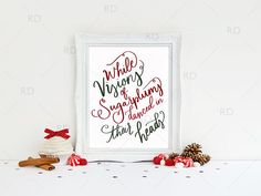 While Visions of Sugarplums Danced in Their Heads PRINTABLE Wall Art by RissDesign