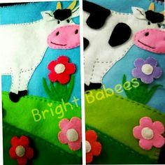 Patch the cow. Que ha perdido esta vaca, ayudemosla!! Libro de fieltro divertido y educativo, notas mas diferencias?.. #brightbabees