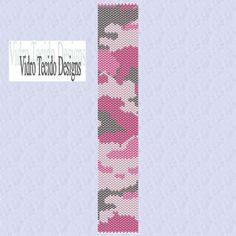 Pink Camouflage Peyote Pattern by vidrotecido on Etsy, $2.00