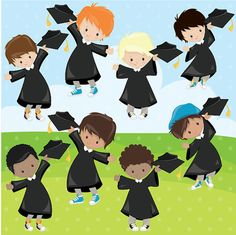 BUY 20 GET 10 OFF - Graduation clipart commercial use, kids vector graphics, Graduation girls digital clip art, digital images - Kids Vector, Vector Clipart, Girls Clips, Image Paper, End Of School Year, Kindergarten Graduation, Grad Gifts, Graduation Cards, Christmas Sale