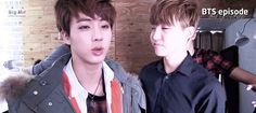 Jin J-hope You see how Rap Monster gets in and is like nah you two ain't doing nothing without ME!!! Gif