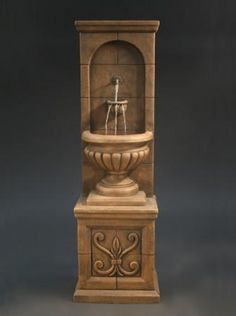 Water Feature SupplyFloor water walls, wall hanging water fountains, and custom made water feature fountains interior Indoor Waterfall Fountain, Outdoor Wall Fountains, Garden Water Fountains, Indoor Fountain, Water Garden, Outdoor Walls, Decorative Water Fountain, Rustic Italian Decor, Fountains For Sale