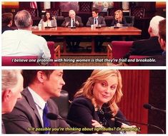 "When she had the best possible comeback for Councilman Milton. | 19 Times Leslie Knope Shut Down Sexism On ""Parks & Rec"""