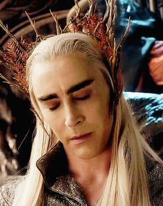 Lee Pace as Thranduil in The Hobbit Trilogy (2012-2014) (gif)