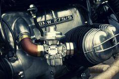 BMW R75/5 Café Racer motor. love the polish work!