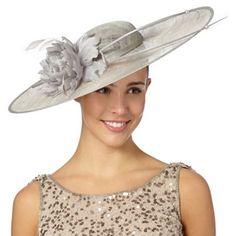 Hatbox Grey double quill and corsage hat fascinator- at Debenhams.com