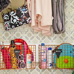 Overwhelmed by stuff? Cut down your clutter with these easy tips, designed to help you streamline your storage, get organized, and de-stress!