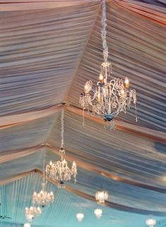 Chandaliers in tents, yes please.