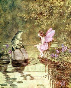 Fae Aesthetic, Photowall Ideas, Fairy Wallpaper, Vintage Fairies, Fairytale Art, Forest Fairy, Children's Book Illustration, Girl Illustrations, Fairy Art