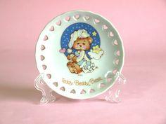 Teddy Beddy Bear Trinket Dish  Vintage 1982 Teddy by FunkyKoala