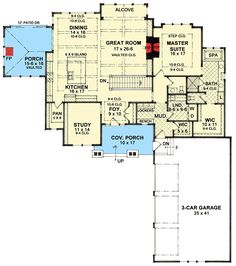 Shingled Beauty with Master on Main - 14621RK | Architectural Designs - House Plans