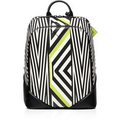 Mcm Medium Tobias Backpack ($1,535) ❤ liked on Polyvore featuring bags, backpacks, neon yellow, neon yellow backpack, neon yellow bag, print bags, patterned backpacks and mcm bags