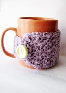30 minutes easy crochet mug cozy DIY