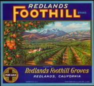 Vintage orange crate label from Redlands