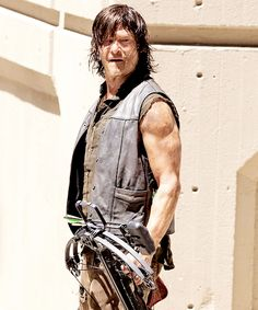 Norman Reedus on set of S5