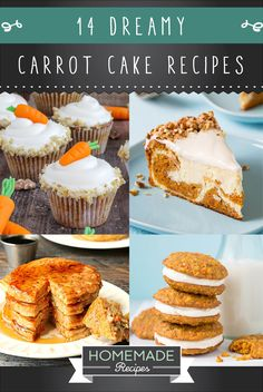 14 Dreamy Carrot Cake Recipes   Healthy And Delicious DIY Desserts, Definitely Worth A Try : http://homemaderecipes.com/14-carrot-cake-recipes/
