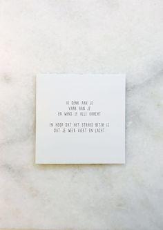 Tekstje om iemand sterkte te wensen, kracht te geven, gedichtje, versje van © Gewoon JIP.
