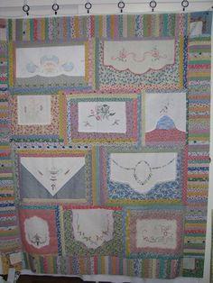vintage linens quilt idea