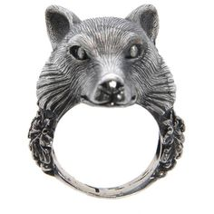 Ugo Cacciatori Wolf ring (€635) ❤ liked on Polyvore featuring jewelry, rings, accessories, anillos, silver jewelry, silver rings, ugo cacciatori and silver jewellery