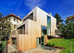 Staggered timber-clad Haus am Hang by MVRDV climbs a Stuttgart slope like stairs   Inhabitat - Sustainable Design Innovation, Eco Architecture, Green Building