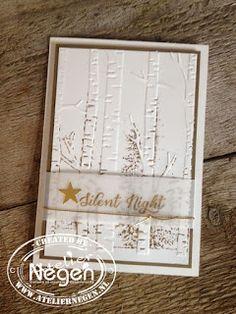 Stampin' Up! - Wonderland Stamp Set and Woodland Embossing Folder - Created by Atelier Negen - www.laulijn.nl