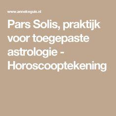 Pars Solis, praktijk voor toegepaste astrologie - Horoscooptekening